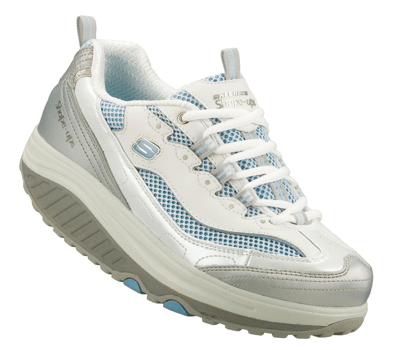 Παπούτσι εκγύμνασης Skechers Shape-ups Wht/royal - Υπόδημα ενδυνάμωσης και κάυσης Θερμίδων